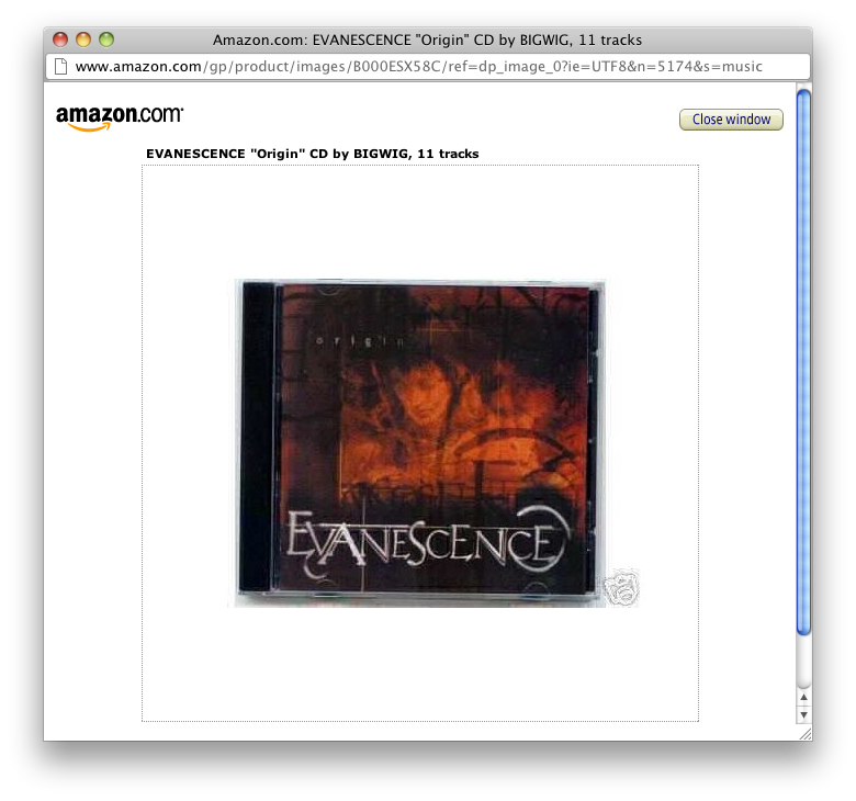 Amazon Album Art Screenshot