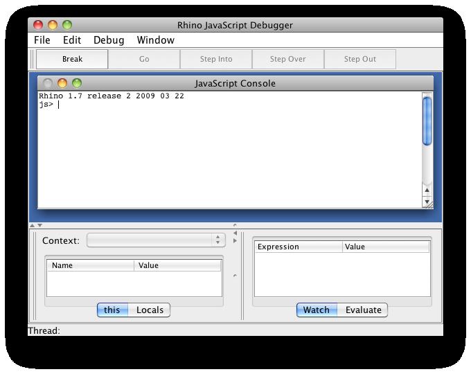 rhino javascript debugger