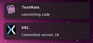 TextMate KRL Commit Bundle