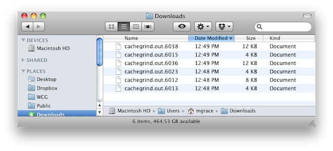 cachegrind.out output in /temp folder for mamp on mac osx